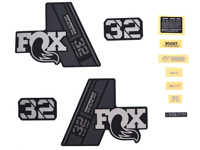 Fox Racing Shox Decal Kit 32 SC P-SE, gray/matte black